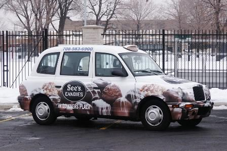 See's Candies - London Taxi - Chicago by London Taxis of North America, via Flickr