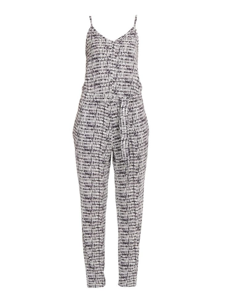 Abstract Print Jumpsuit Black