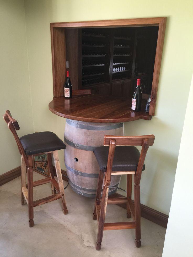 Kiaat bar stools