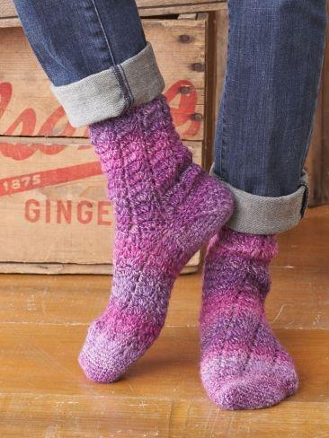 Crochet Patterns Using Sock Yarn : Twisting Lace Socks Yarn Free Knitting Patterns Crochet Patterns ...