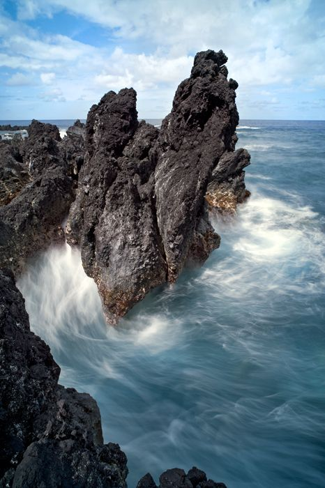 Lapahoe'hoe rocks & surf, Hamakua Coast, Big Island, Hawaii  The Big Island is the best!!