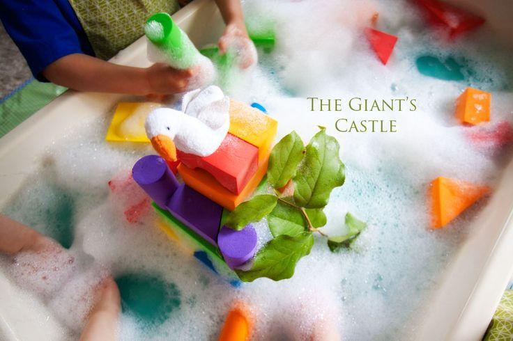 """Jack and the Bean Stalk"" Water Play: Water Plays, Beans Stalk, Preschool Ideas, Preschool Sensory, Kids Co Op Jack, Book Activities, Jack O'Connel, Beanstalk Sensory, Fairies Tales"