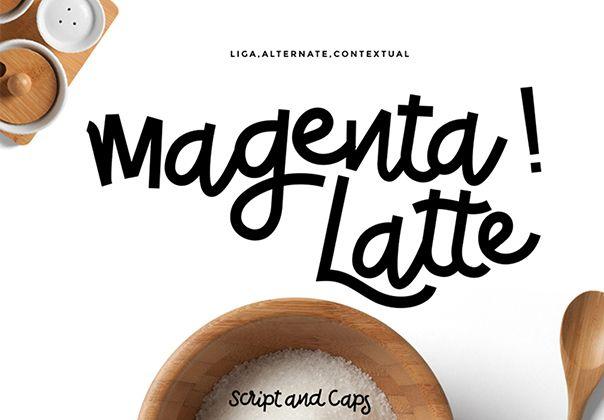 Magenta Latte Font #awesomefont #funfont