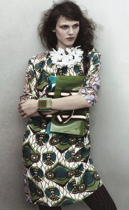 First Look At Marni For H & M [Glamour February 2012]: H M Collection, Outfits, Fashion, Style, Marni, H&M, Dresses, Wear, Tribal Prints