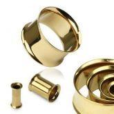 Alargador  Aço Banhado a ouro  316L 8mm a 10mm
