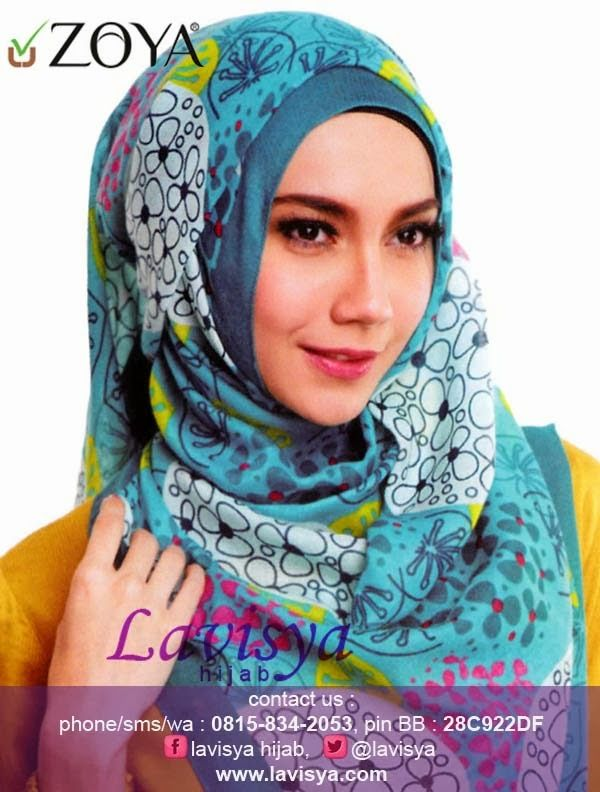 Lavisya Hijab: Zoya Kerudung Flower Line - Rp 79,000