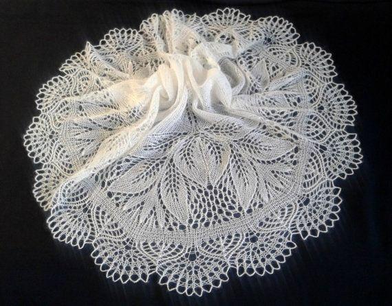 Wedding Shawl White Kid Mohair Silk Blend Yarn Knitting Lace Warm Winter Stole HandKnitted Wrap Elegant Romantic Gift for women Bridal Scarf