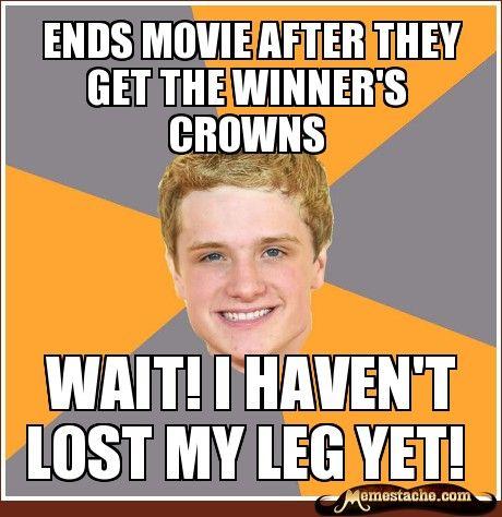 Hahahah @Kristi Enz: Movie Ended, Leg, Hungergames, Ends Movie, Movie Left