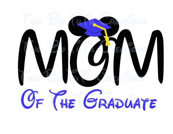 Disney Mom of Grad Graduate Mickey Disney Graduation 2015 Printable Image for Iron On Transfer DIY Disney