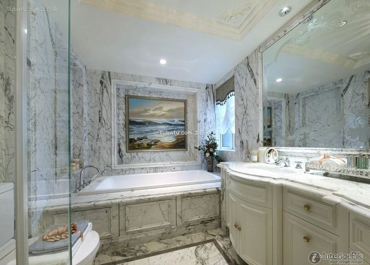 European Style Marble Bathroom Design 2016