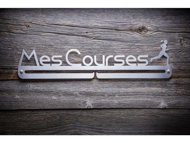 """Support à médaille """"Mes Courses"""" pour femme.Fait d'acier inoxidable, très esthétique et durable.18pouces de large x 41/2&nbs"""