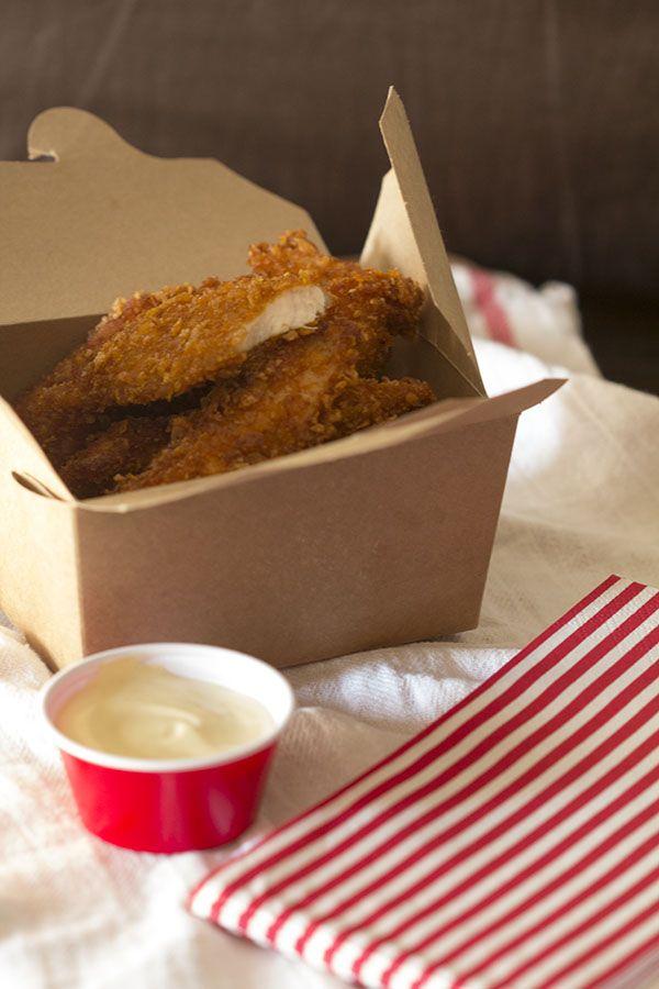 Cómo preparar flakes de pollo con Thermomix. Pollo rebozado con cereales de maíz