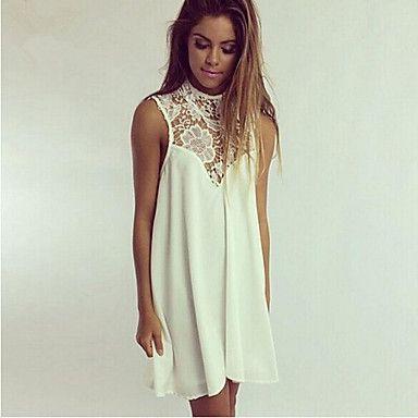 Lace Chiffon Sleeveless Dress