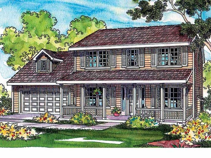 country house plan with 1608 square feet and 3 bedroomss from dream home