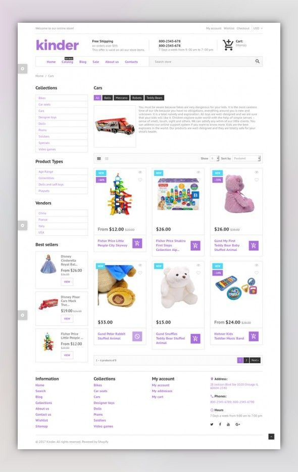 Kinder - Toy Store Shopify Theme E-commerce Templates, Shopify Themes,  Entertainment,