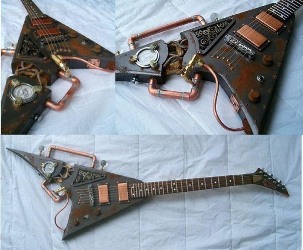 Cultura steampunk  instrumento musical con tubo de cobre