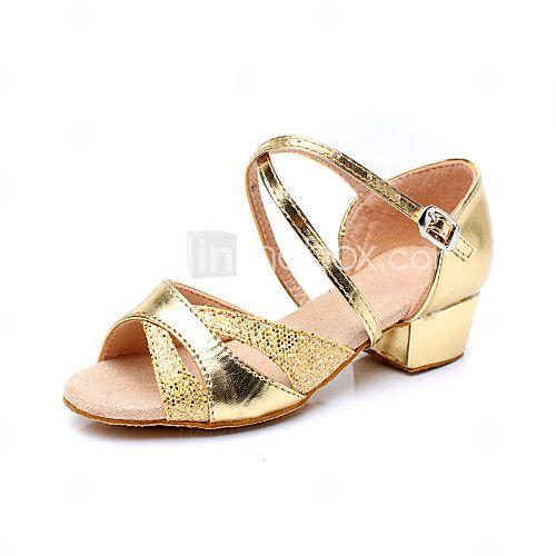 Sapatos de Dança ( Prateado/Dourado ) - Crianças - Não Personalizável - Latim/Salsa/Flamenco/Samba de 2017 por $15.74
