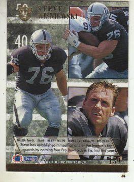 steve wisniewski football cards | Steve Wisniewski 1994 Fleer Ultra football Card card back