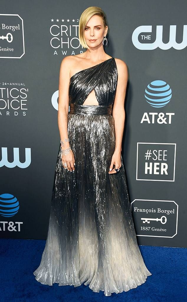60abde3a2bb Charlize Theron from Critics  Choice Awards 2019 Red Carpet Fashion Bow  down to the Best Actress in a Comedy nominee for one of the Best Dressed  looks of ...