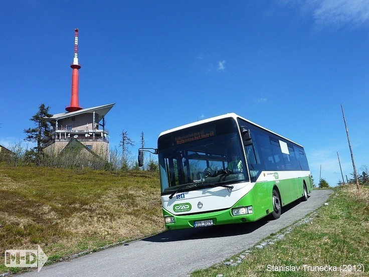 Irisbus Crossway LE on the top of Beskydy mountains