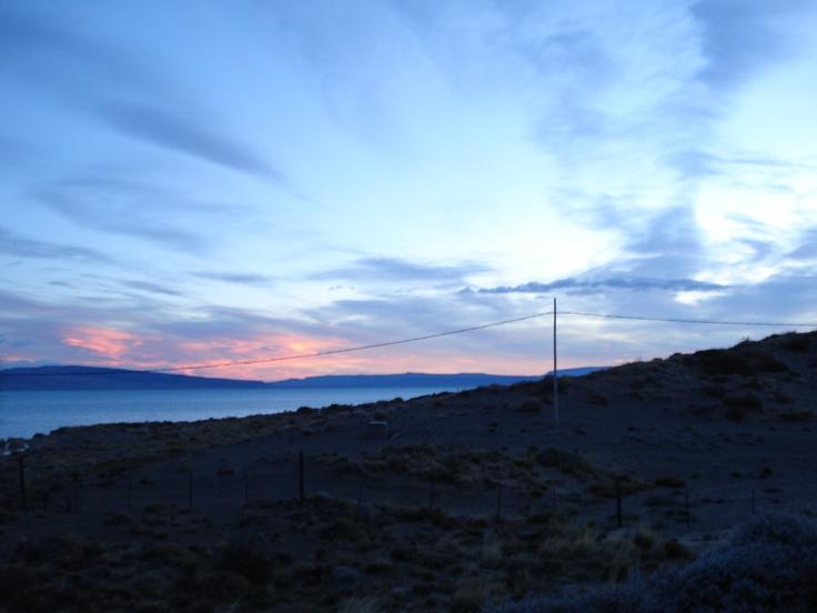 Beautiful sunset in Calafate, Patagonia