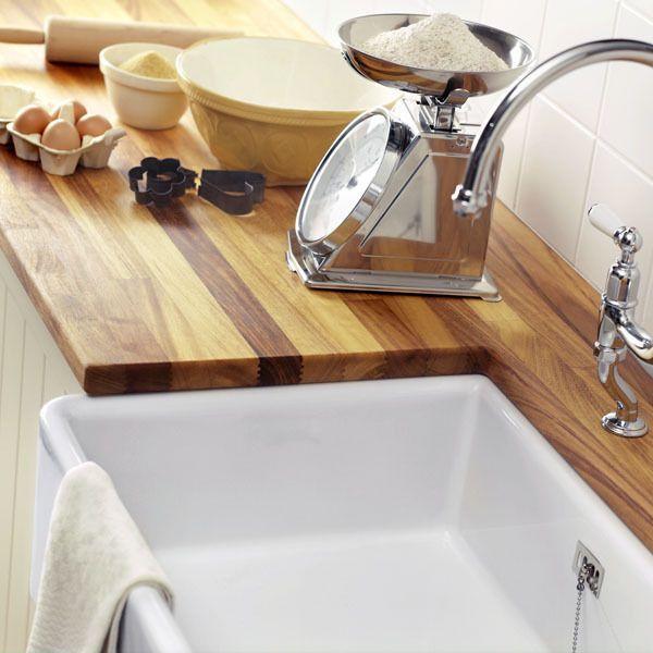 Afbeeldingsresultaat voor keuken hoogglans wit met houten blad