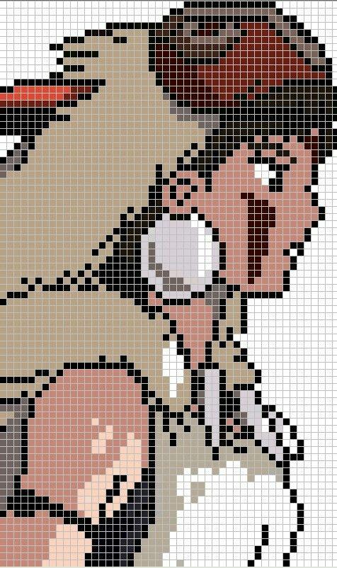 Princess Mononoke cross stitch pattern