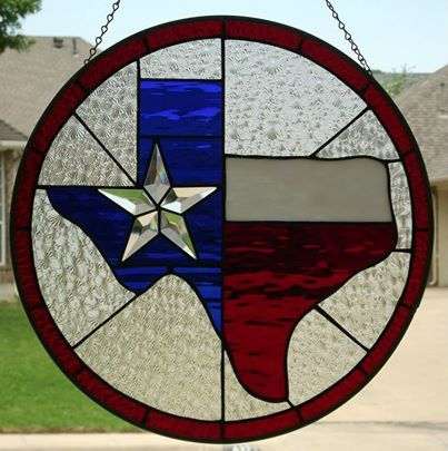 Great Texas Flag stained glass available from  https://www.facebook.com/CullumDesign