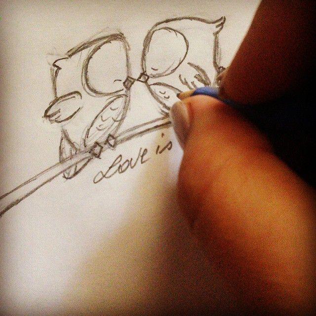 #disegno #disegni #work #infieri #lavori #handmade #progetti #progettazione #gufi #amore #love #owl #drawing #underconstruction #xsmast #natale