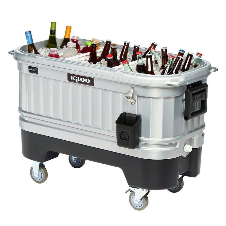 Igloo Party Bar Led Illuminated Portable Cooler - 125 Quart, Silver