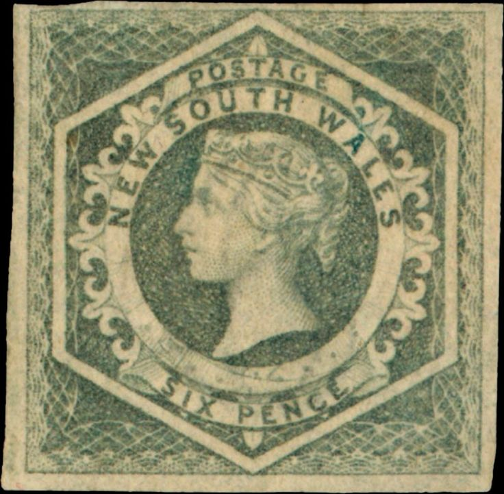 New South Wales 6d 1854–1855 Queen Victoria