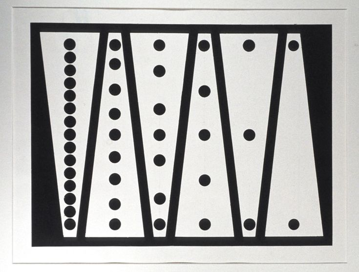 """Francis Hewitt """"Apparent Size Change Drawing"""" 1967 Ink on Paper"""