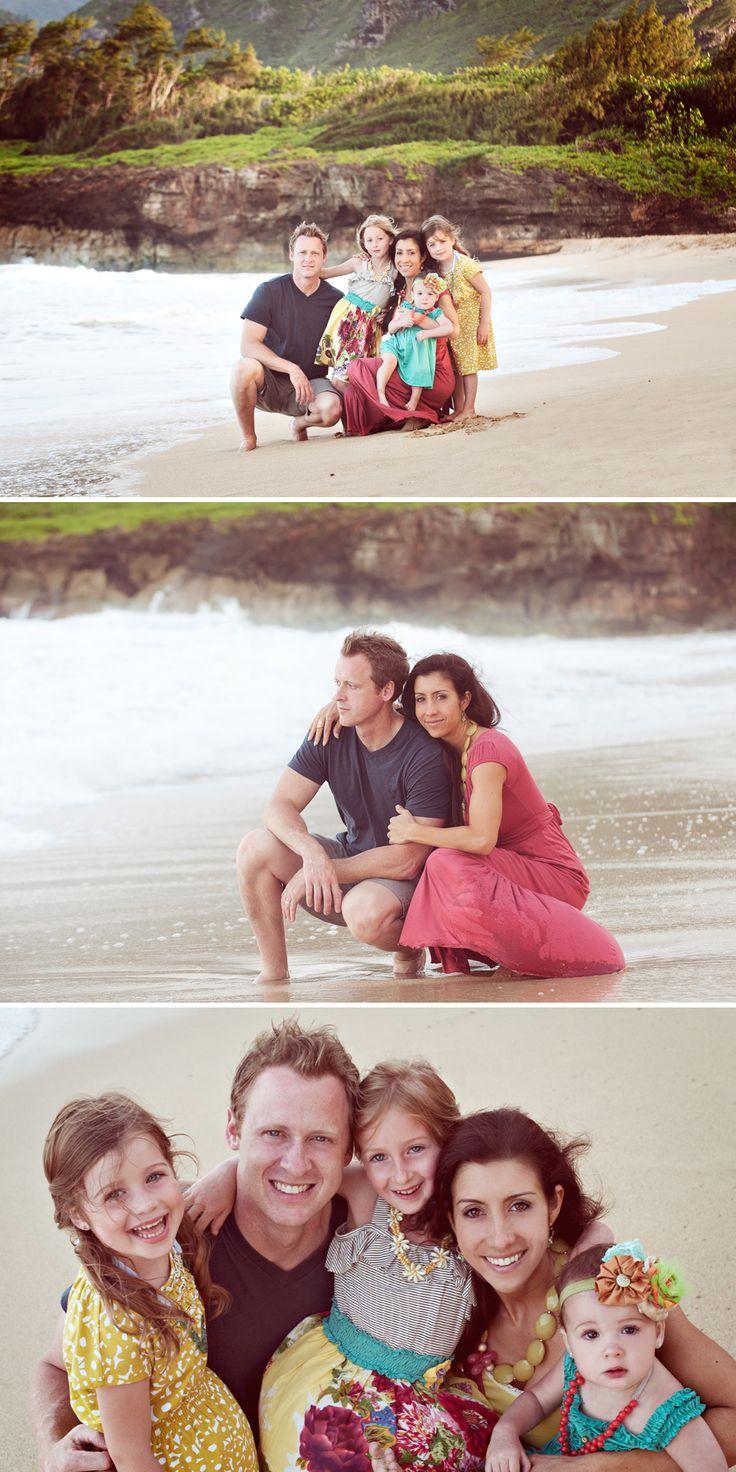 family photos on the beach