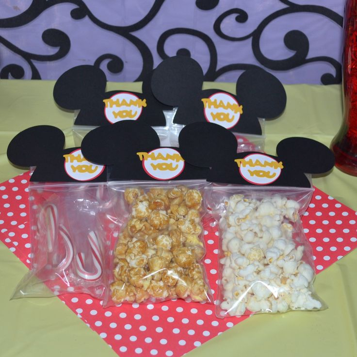 Mickey Mouse Ears Party Favor / Goodie Bags