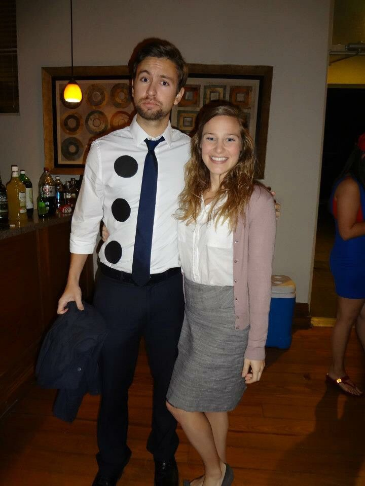 Three whole punch Jim and Pam from the office! Halloween Couples Costume