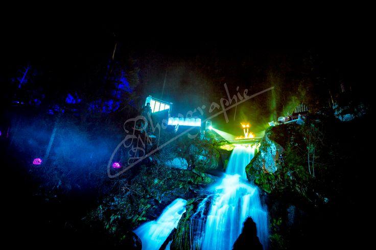 Feuershow -Triberger Wasserfälle - Winterzauber - Michael Doninger Photographie