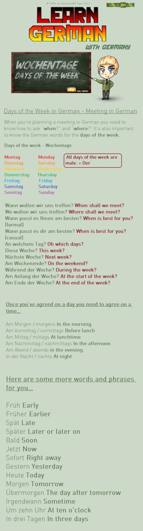 Learn German #13 This is long :I Thanks to ~RobinTheBard Who suggested this great idea in my forum ^^ f e a t u r e d - h e r e Tutorial Tuesday #4Remember, if you like these tutorials, visit the d...