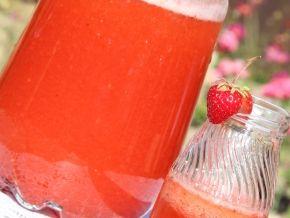 Клубничный лимонад, рецепт с фото