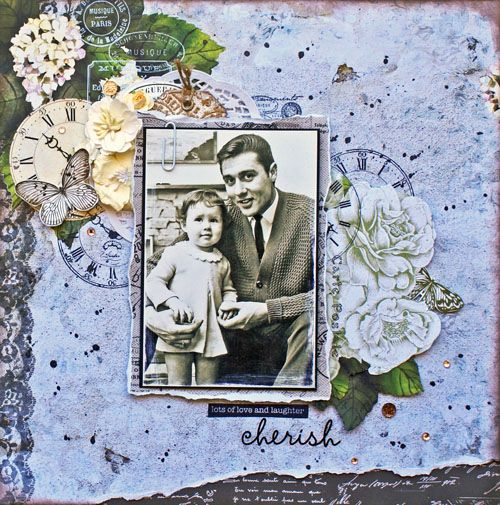 "Layouts with ""Provincial"" Stamp set & Embossing folder – Kaisercraft Official Blog. Cherish by Sonia Thomason"