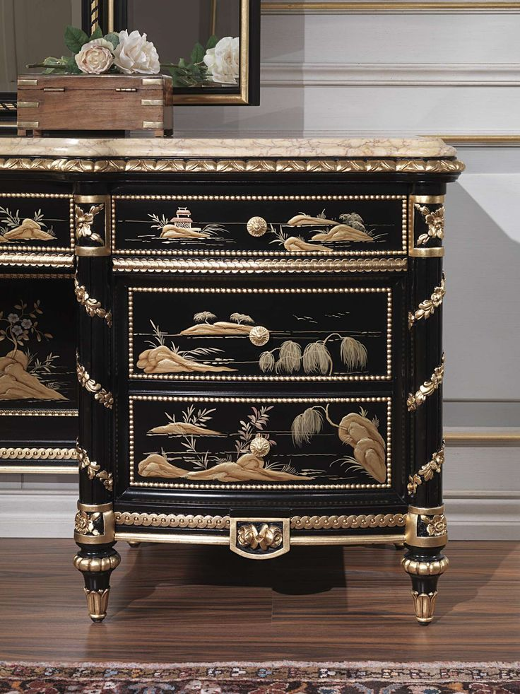 Luxury classic dressing table Chinoiserie | Vimercati Classic Furniture