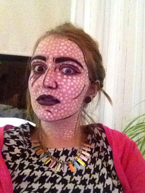 Pop-art make up, Halloween 2014