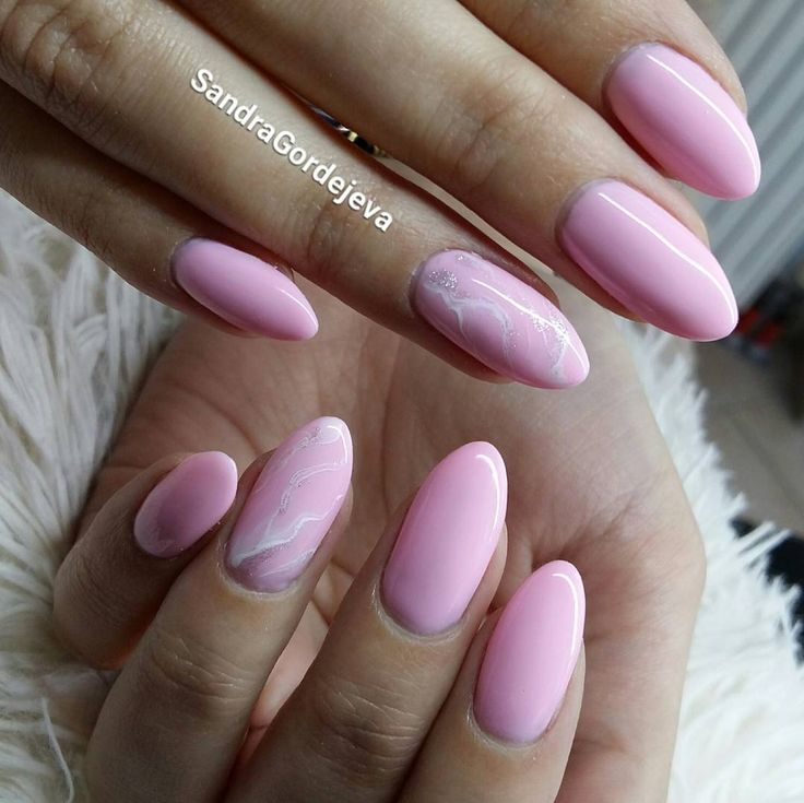 gel nails,light rose nails,marble nails