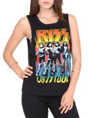 Kiss '77 Tour Muscle Girls T-Shirt