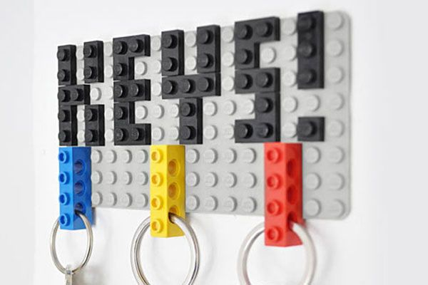 Have fun and make key holder out of legos - 20 DIY Creative Key Holders