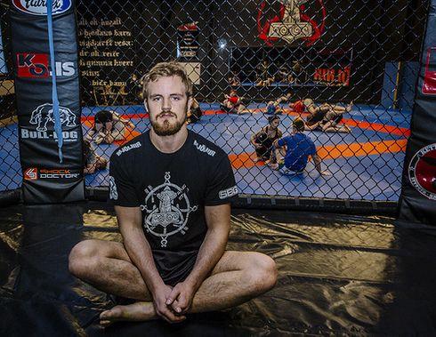Iceland's UFC combattant, Gunnar Nelson, at his gym, Mjölnir.