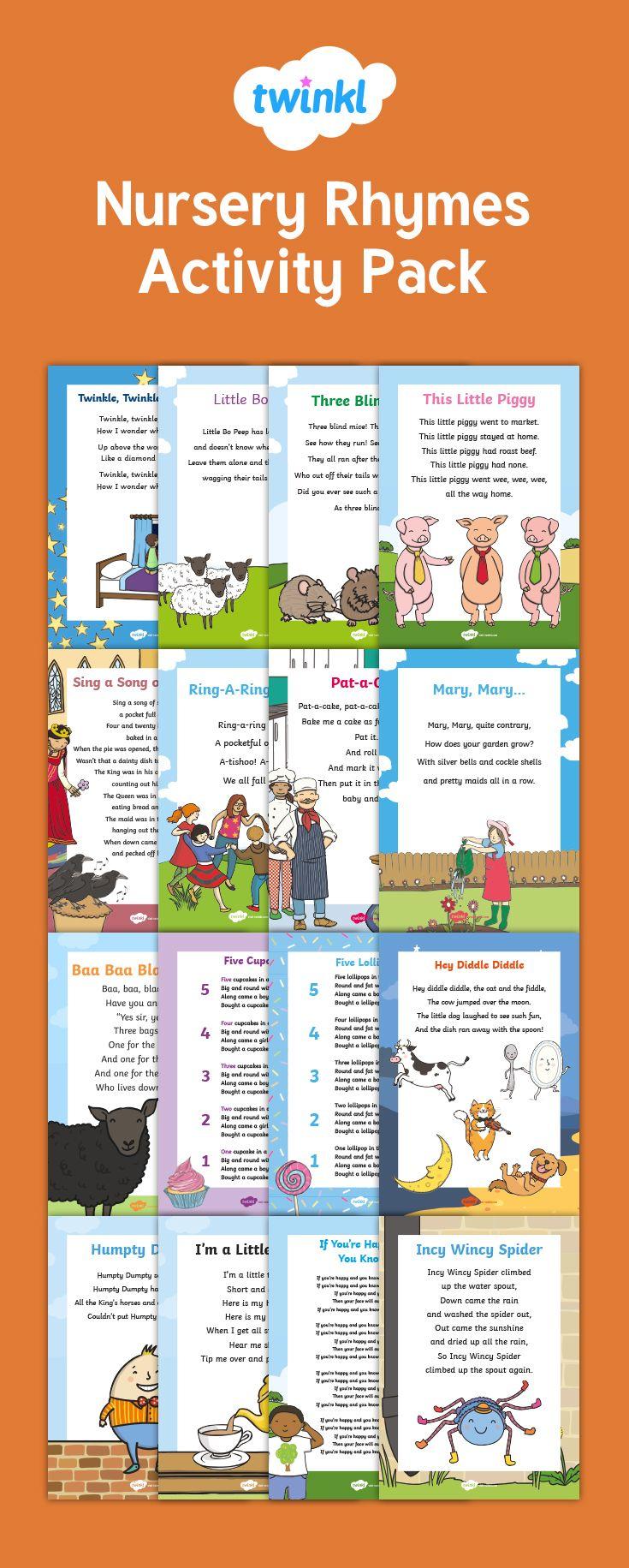 Nursery Rhymes Activity Pack