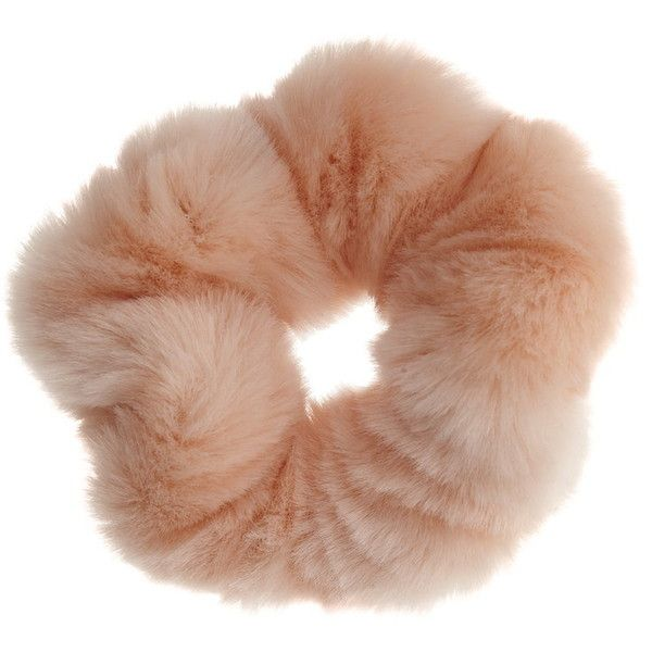 Miss Selfridge Pink Fur Hair Scrunchie (210 THB) ❤ liked on Polyvore featuring accessories, hair accessories, fillers, hair, pink, miss selfridge, pink hair accessories and scrunchie hair accessories
