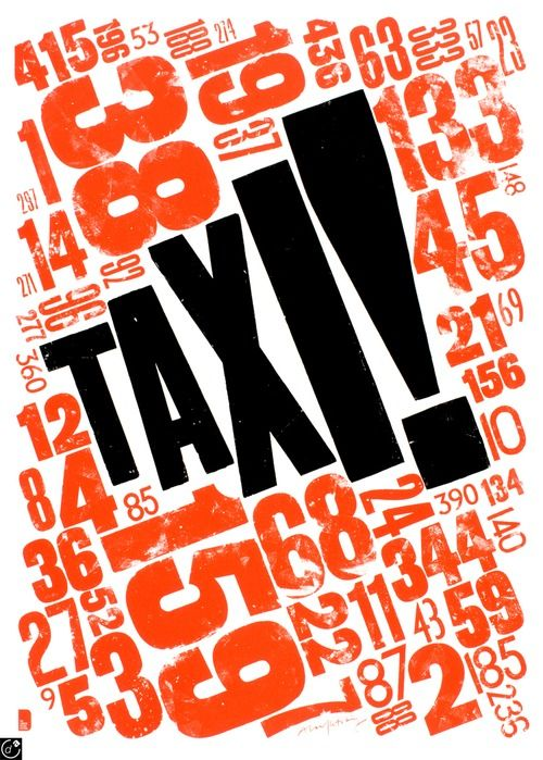 Typeverything.com - TAXI! by Alan Kitching.    (Via Debutart)
