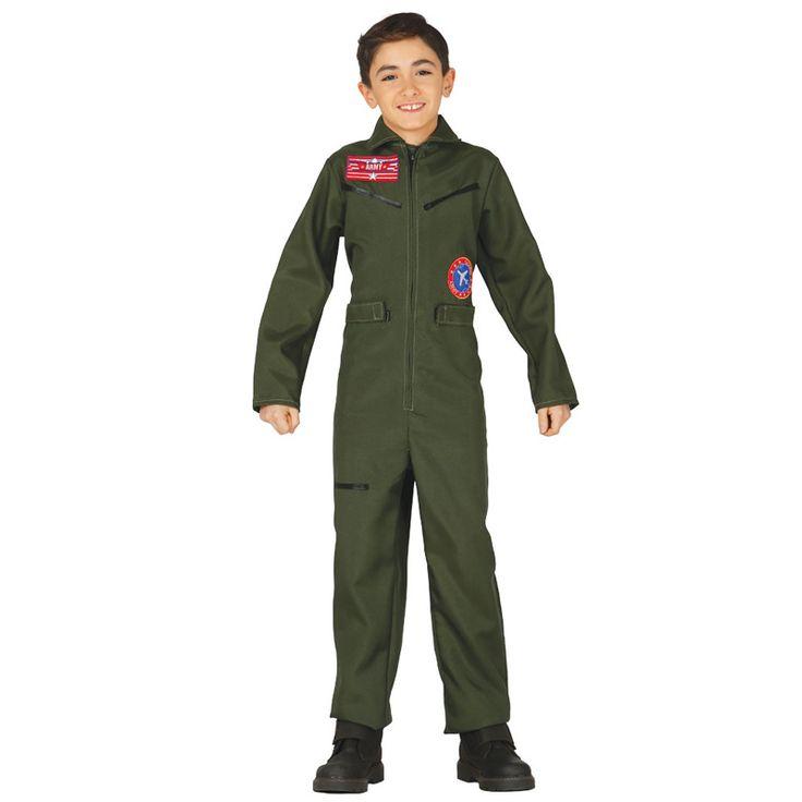Disfraz de Piloto de Caza Infantil #disfraces #carnaval #novedades2016