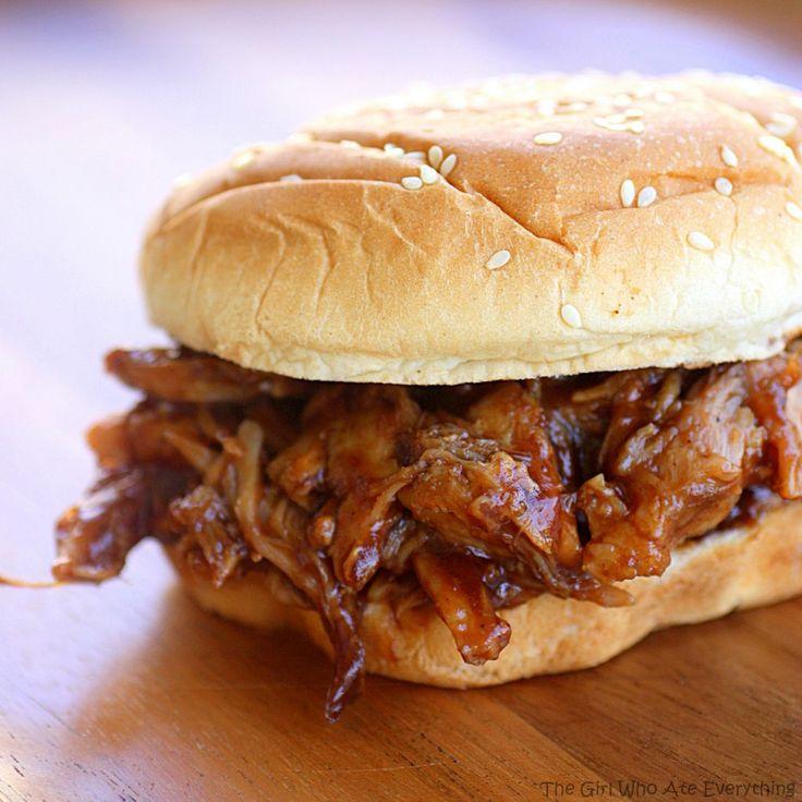Root Beer sándwiches sacó de cerdo